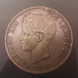 5 PESETAS ALFONSO XIII (1898) (MBC)