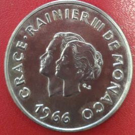 10 FRANCOS MÓNACO 1966 EBC