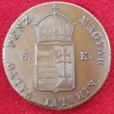3 Krajczar 1849 Hungria cobre EBC