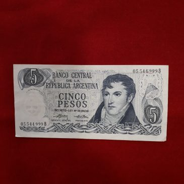 5 pesos Argentina 1969 EBC