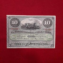 10 pesos Banco Español Isla de Cuba 1896 MBC+