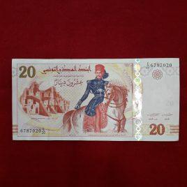 20 dinars Túnez  2011 serie E/20 EBC