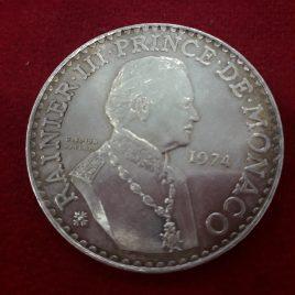 50 Francos de plata Rainiero III 1974 EBC