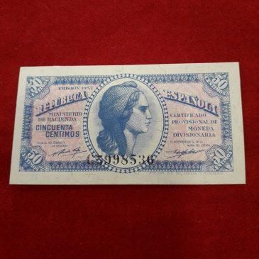 50 centimos 1937 serie C Estado de conservacion EBC