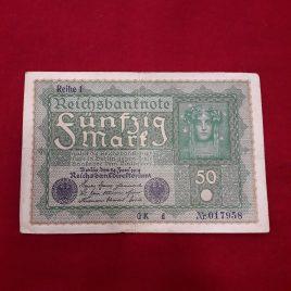 50 Mark Alemania 24 de Junio 1919  seie Reihe 1 serie d MBC