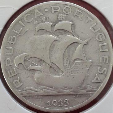 5 Escudos de plata 1933 MBC