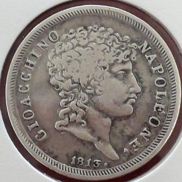 1Lira de plata Joachim Murat (Gio Acchino) 1813 MBC