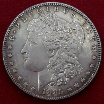 1 Dollar Morgan 1885 (s/c) America, Plata