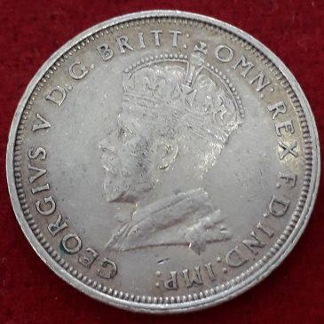1 Florin plata , Australia 1927 (MBC+), Plata