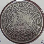 20 Francos Marruecos de Plata 1952, (MBC)