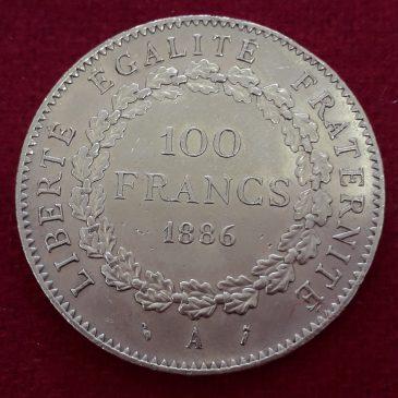 100 Francos de Oro 1886-A GENIE calidad S/C Francia