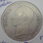 5 Bolivares plata Venezuela 1936 calidad MBC