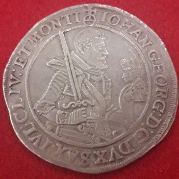 TAHALER PLATA SAXONY ALEMANIA 1624 MBC+