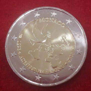 Moneda conmemorativa 2 euros Monaco 2013 ONU.