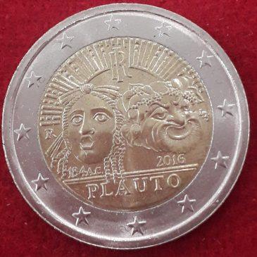 2 Euros Conmemorativos Italia 2016 Plauto Moneda